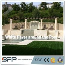 White Granite for Swimming Pool Coping, Nautral Pool Surrounding