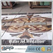 White Marble Medallion,Coffee Marble Medallion, Marble Water Jet Medallion or Water Jet Pattern, Floor Medallion, Rosettes Medallion for Wall Tile and Floor Tile
