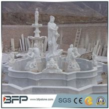 White Marble Sculpture,White Marble Water Fountain with Statue