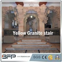 Yellow Granite Step & Rusty Granite Riser
