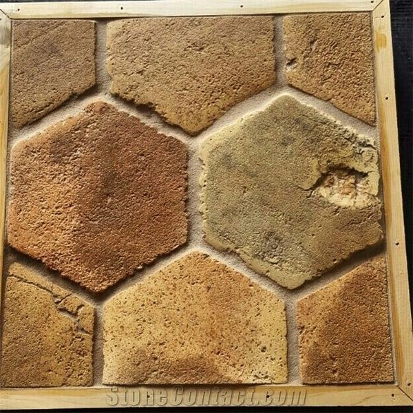 Antique Hexagon Terracotta Tiles From Serbia