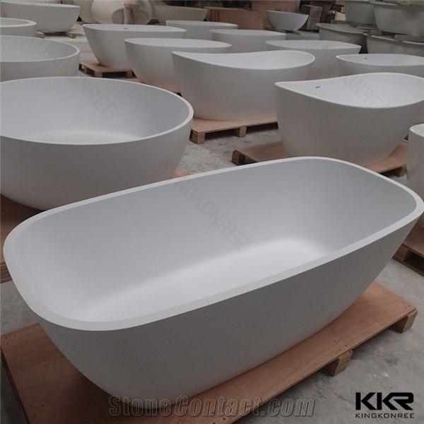 Kingkonree Matt White Two Sided Color Second Hand Bathtub