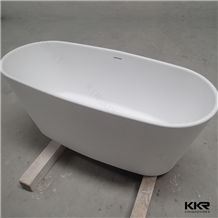 New Design Custom Sized Acrylic Solid Surface Free Standing Bathtub