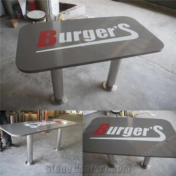 Chinese Factory Price And Supply Seats Grey Color With Logo On - Stainless steel table tops for sale