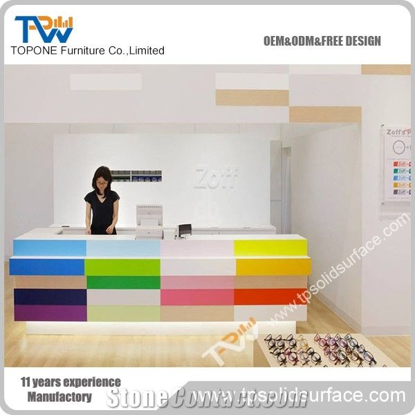Colorful modern furniture Design Colorful Modern Design Reception Desk With Solid Surface Material Table Top Design For Office Furniture Abbotts At Home Colorful Modern Design Reception Desk With Solid Surface Material