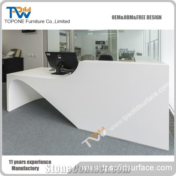 Corian Acrylic Solid Surface Artificial Marble Stone Straight Office  Executive Desk Office Furniture Facotry