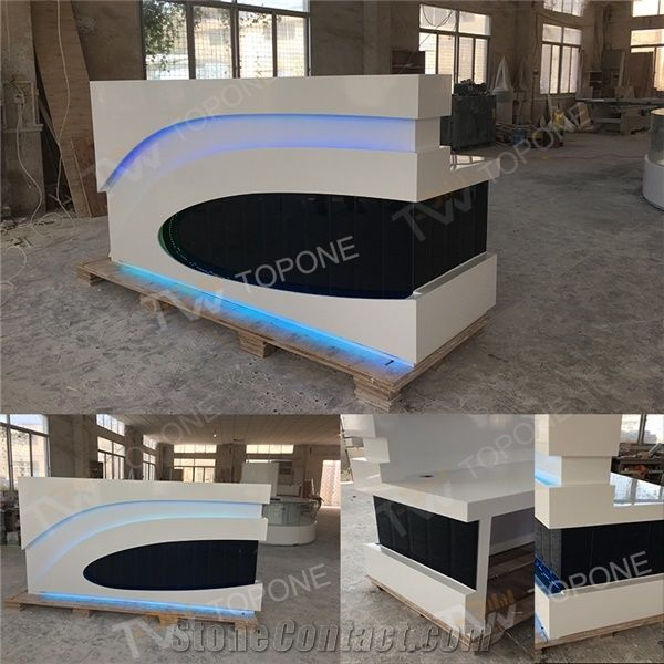 Corian Acrylic Solid Surface Hotel Front Reception Desk