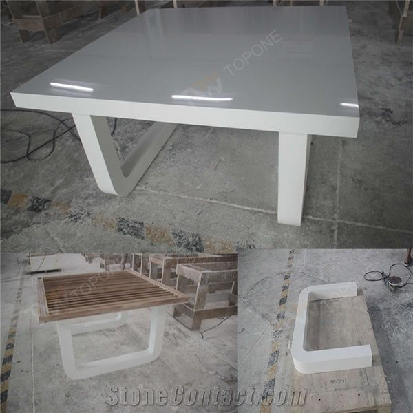 Charmant Home U003eu003e Furniture U003eu003e Factory Price White Artificial Marble Stone 8 Seats  Home Dinner Tables For Sale, Corian Acrylic Solid Surface High Gloss  Surface Table ...