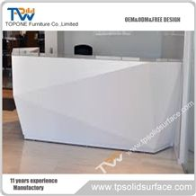 Factory Price White Corian Solid Surface Piano Design Reception Desk ...