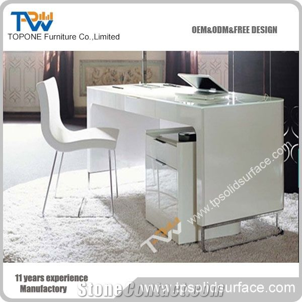 Factory Price White Marble Stone Single Office Desk Furniture, Executive  Office Tables For Sale, Manmade Stone Office Table Furniture