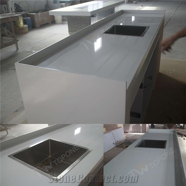 Solid Surface Kitchen Cabinet: Factory Supply Custom Design Solid Surface Kitchen