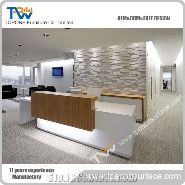 Factory Supply Solid Surface Modern White Color Salon