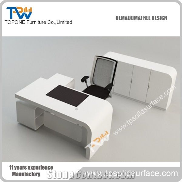 Fashion Design Modern Office Desk For Office Furniture, Corian Solid  Surface Office Table Design