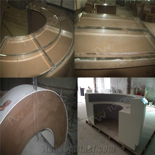 Half Round Design Corian Small Office Design Reception Counter Cheap China Office Furniture With Table Tops Design Stonecontact Com