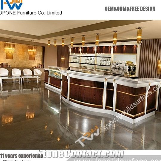 Small Home Bar Counter Table Top Design Artificial Marble Stone Desk Tops