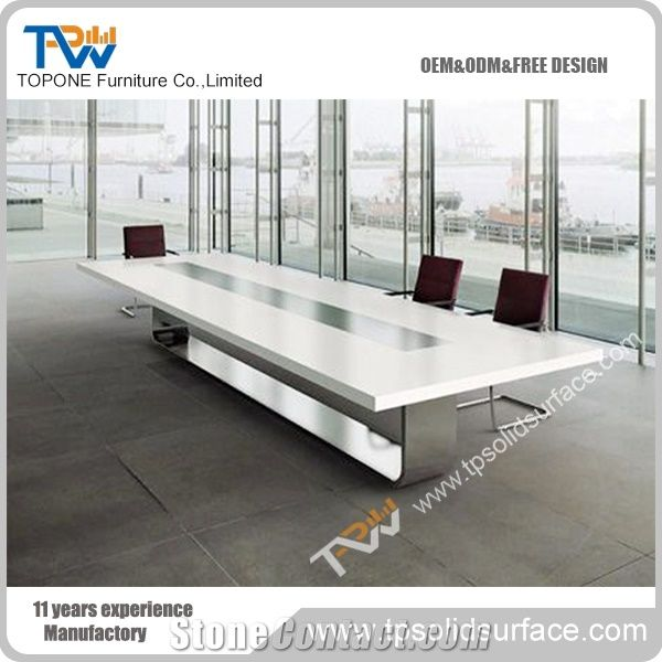 Top Sale Simple Custom Acrylic Solid Surface Office Furniture - Custom glass conference table