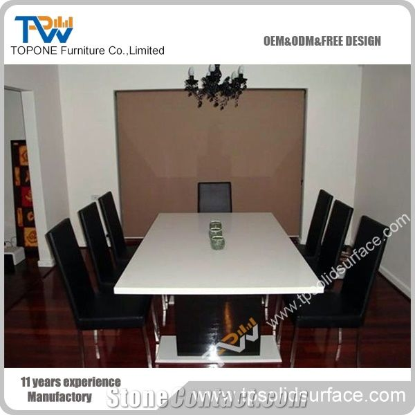 Triangle Shape Design Acrylic Solid Surface Office Conference Table - Triangle conference table