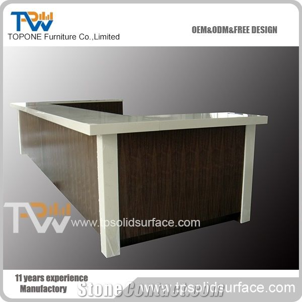 U Shape Factory Supply Acrylic Solid Surface Table Tops