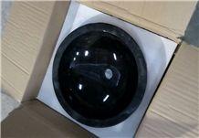 Black Marble Bowl, Round Basin Dia 40cm