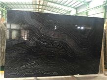 Ancient Wood Grain Marble,Black Wood Vein Marble,Black Wooden Marble,Antique Black Marble,Black Forest Book Match Slab