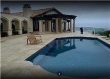Desert Sand Travertine Pool Coping, Pool Pavements