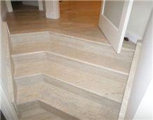 Custom Made Travertine Stair Case