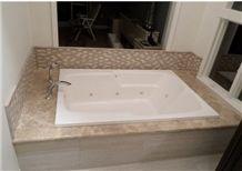 Light Emperador Marble Bathtub Deck