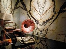Paonazzo Marble Wall Covering Application Project