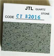 Gray Colors Quartz Stone for Kitchen Bar Countertops Popular in Usa