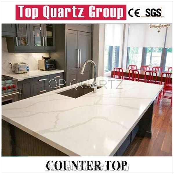 Best Selling Calacatta Quartz Countertop, Artificial White Quartz Kitchen  Countertops