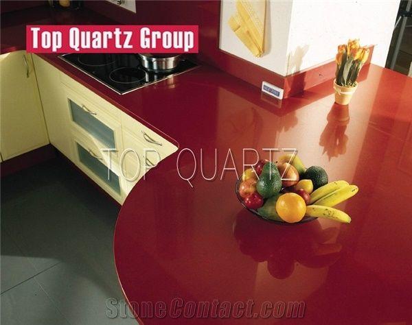 Solid Pure Color Red Quartz Stone