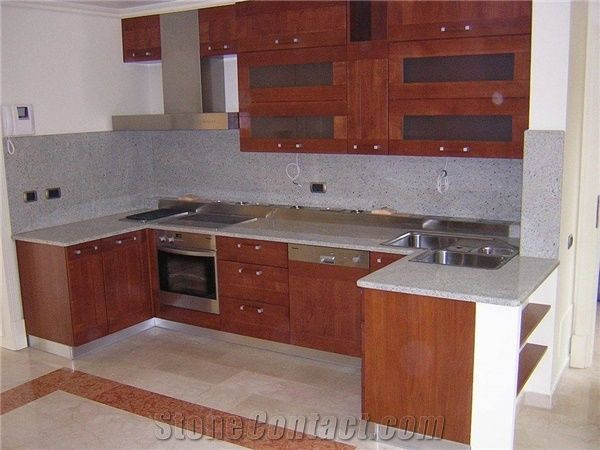 Supreme white granite kitchen countertop from hungary Supreme white granite pictures