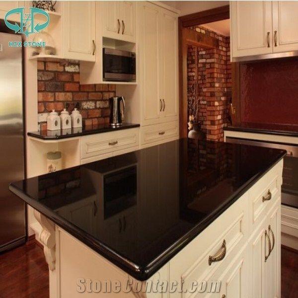 Chinese Absolute Black Granite Kitchen Countertopsabsolute Black