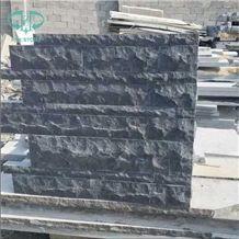 Chinese Blue Limestone Split Face Walling Tiles, Blue Limestone Building Stones,Black Limestone Bricks