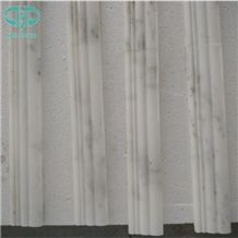 Customized Oriental White Marble Skirting,Rope Moldings,Pencil Liners,Border Decos,Strips,China Statuary White Marble,Statuario White Marble