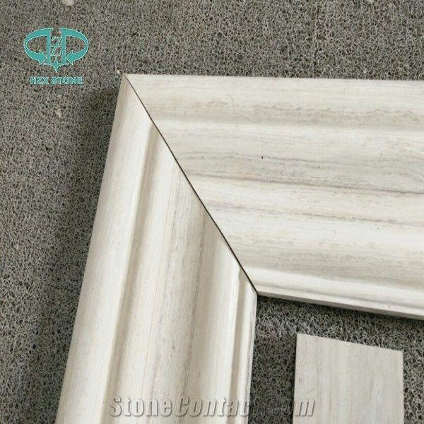 Door Frame / Wooden White Marble Window Frame for Exterior Building ...