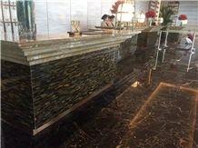 Luxury Semiprecious Stone Reception Gemstone Tiger Eye Recepiton Top for Hotel