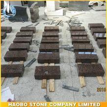American Tan Brown Granite Slant Grave Markers