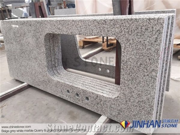 Granite Countertop Tong An White Kitchen Countertops G655 Fabricated China Precut With