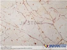 Turkey Ivory Marble, Red Marble, White Marble, Turkey Ivory Red White Marble Tiles & Slabs Pattern Used for Exterior - Interior Wall and Floor Applications