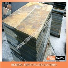 Autumn Gold Slate Patio Paver Stone,Autumn Slate Pool Paving Stone,Autumn Brown Pool Deck Pavers