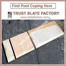 Gold Yellow Pool Coping Pavers Stone,Golden Beige Pool Coping Tiles,Outdoor Pool Terrace Paver Stone