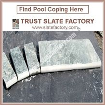 Silver Grey Pool Deck Pavers,Grey Quartzite Swimming Pool Coping,Pool Coping Paving Stone