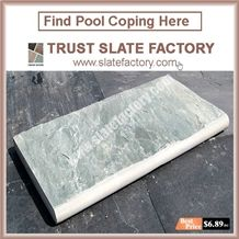 Silver Grey Quartzite Patio Pavers Stone,Grey Color Swimming Pool Coping Pavers,Quartzite Stone Pool Deck Pavers