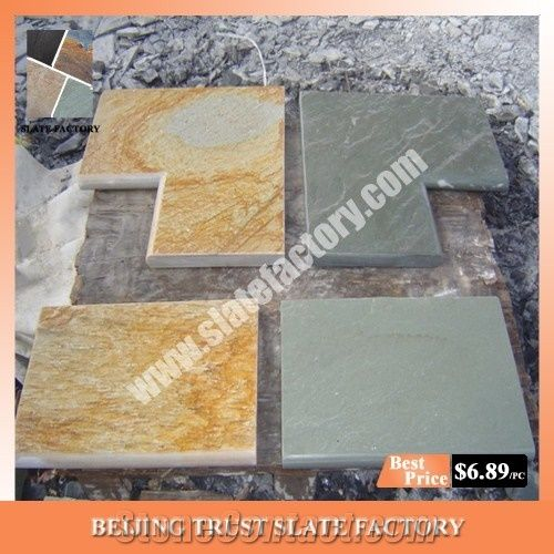 Silver Grey Quartzite Pool Deck Pavers, Gray Color Swimming ...