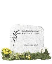 Dovre Gneiss Headstone - Hvit Gneiss Gravesone