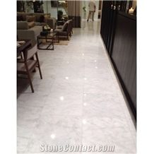 Turkey Bianco White Marble Tiles 1 cm Thickness