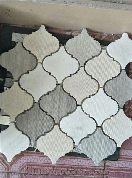 Natural Marble Lantern Stone Mosaic Tile Lantern Marble