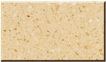 Small Golden Flower Polished Artificial Marble Stone Big Slabs & Tiles ,Cut-to-size. Engineered Stone , Synthetic Material , China Man Made Stone