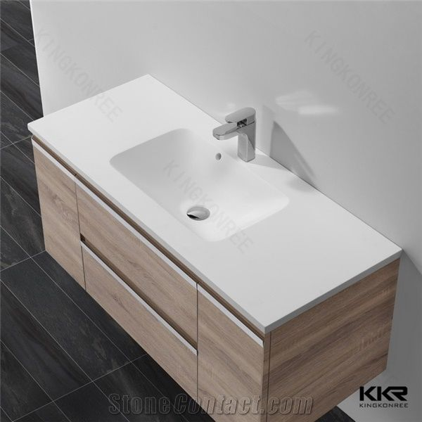 Solid Surface Rectangle Bathroom Basin